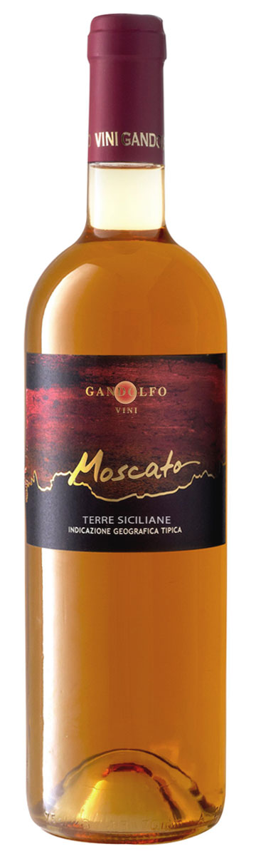 Moscato Fortified wine Terre Siciliane IGP bottle